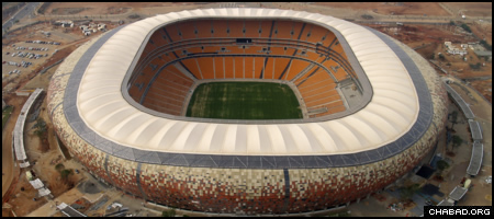 Johannesburg, South Africa's Soccer City will host the opening and final matches of the 2010 World Cup this summer. (Photo: Shane Diaz/Flickr)